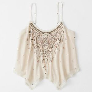 Asymmetric Beaded Cami